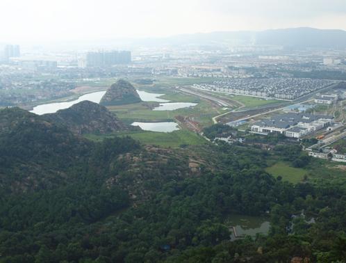 天平山山頂からの眺め