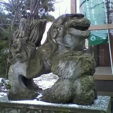 貴舩神社 白山市若宮1、すごい歯並び